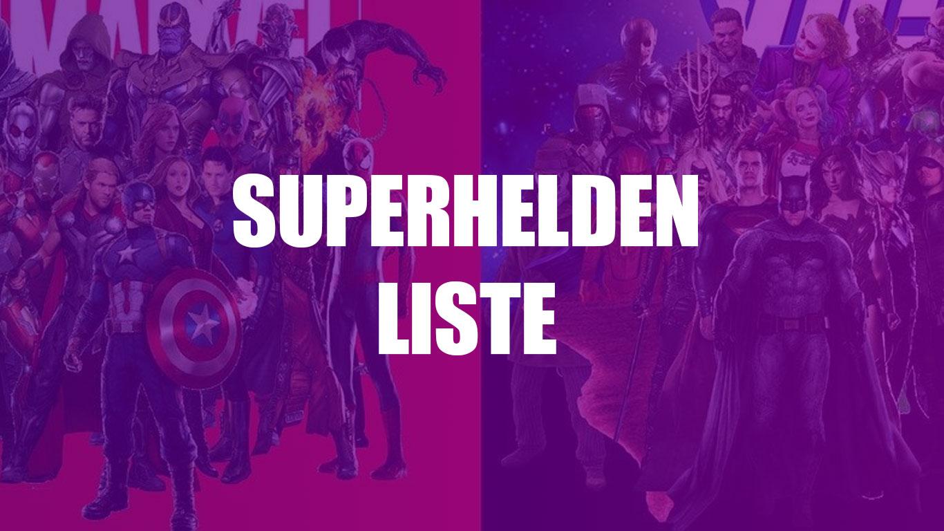 Alle Superhelden Im Blick Eine Liste Von A Bis Z