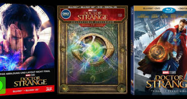 Doctor Strange Blu-Ray Steelbook in der US-Version (mitte)