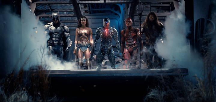 Justice League Film - Batman, Wonder Woman, Cyborg, The Flash und Aquaman